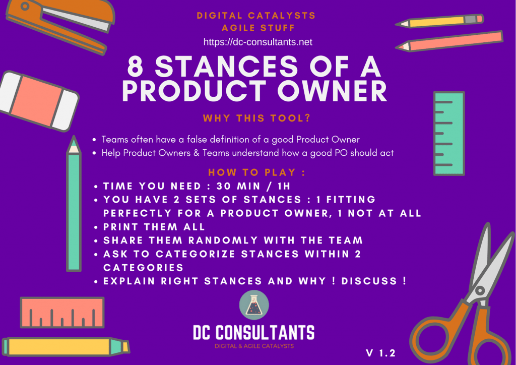 Stances of Product Owner Digital Catalysts